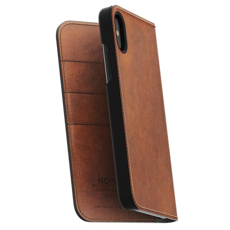 Nomad Leather Folio iPhone X Bruin - 1