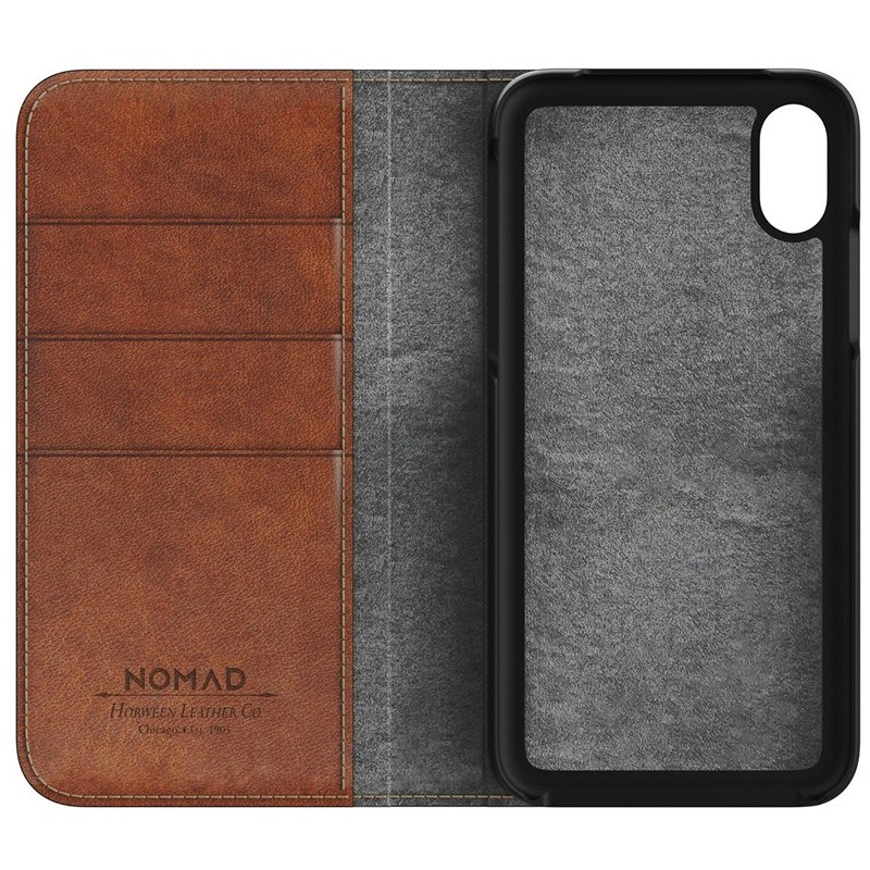 Nomad Leather Folio iPhone X Bruin - 4