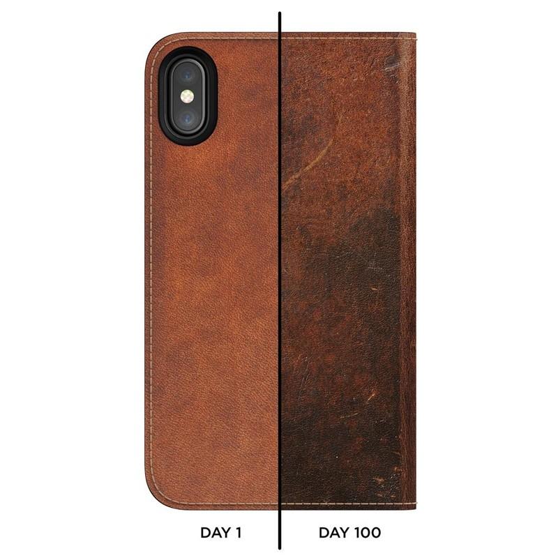 Nomad Leather Folio iPhone X Bruin - 6