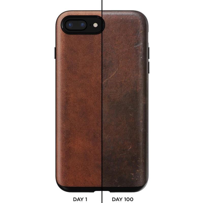 Nomad Rugged Leather Case iPhone 8 Plus/7 Plus Bruin - 7