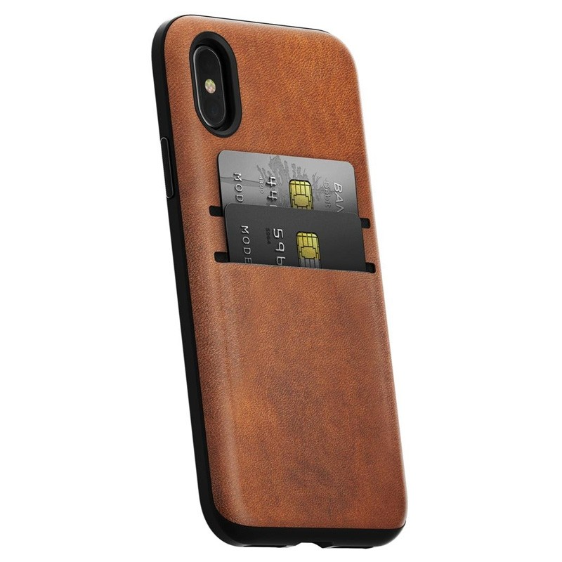 Nomad  Leather Wallet Case iPhone X/Xs Bruin - 1