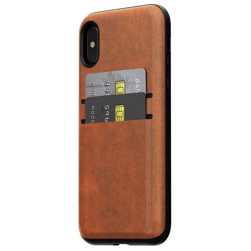 Nomad  Leather Wallet Case iPhone X/Xs Bruin - 3