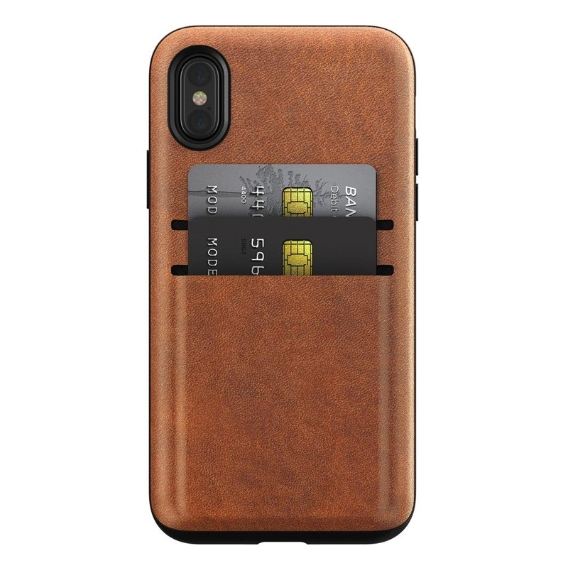 Nomad  Leather Wallet Case iPhone X/Xs Bruin - 4