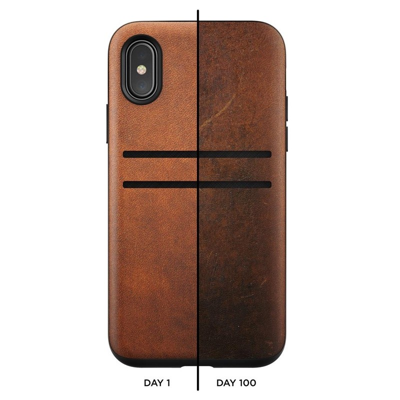 Nomad  Leather Wallet Case iPhone X/Xs Bruin - 9
