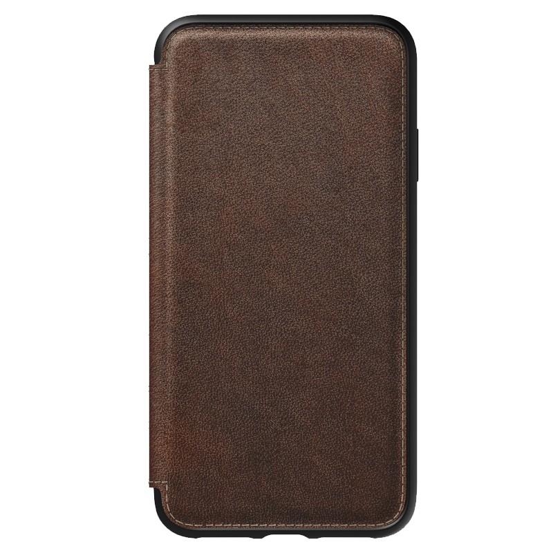 Nomad Rugged Tri-Folio Leather Case iPhone XS Max Bruin 08