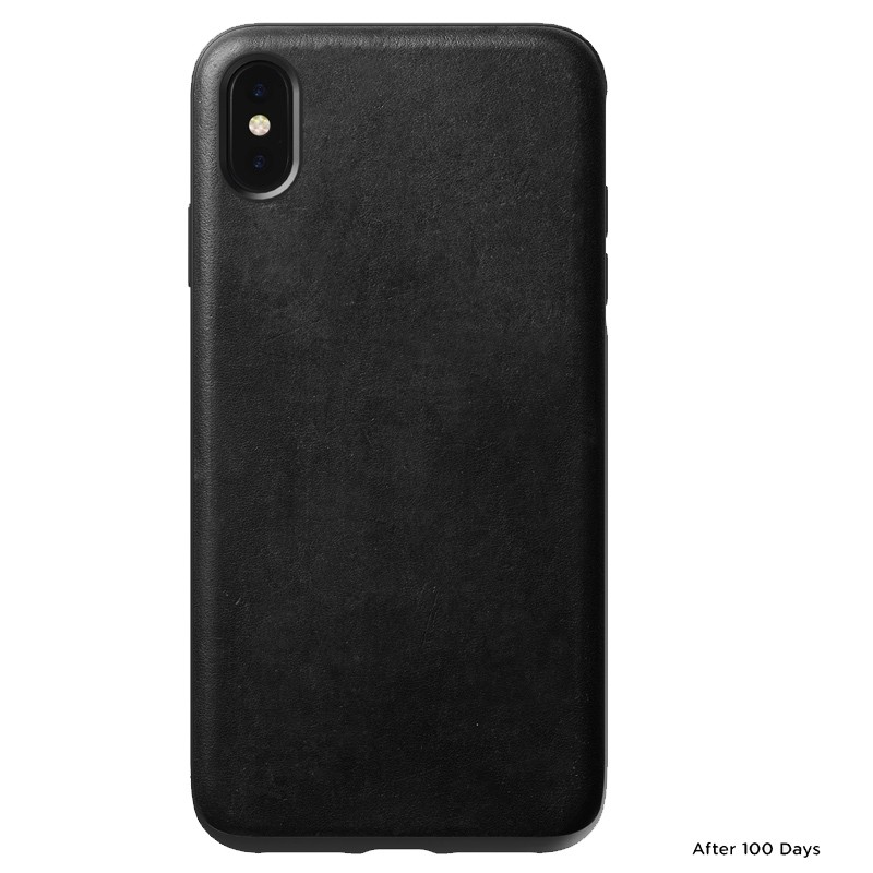Nomad Leather Case iPhone XS Max Zwart 02