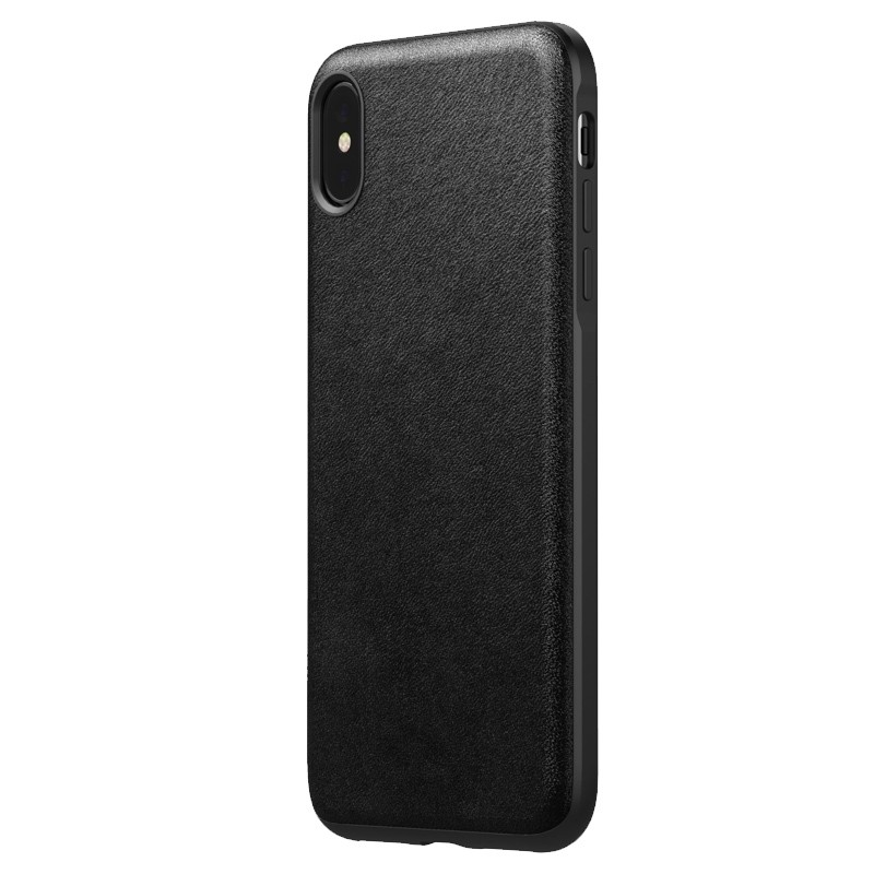 Nomad Leather Case iPhone XS Max Zwart 04