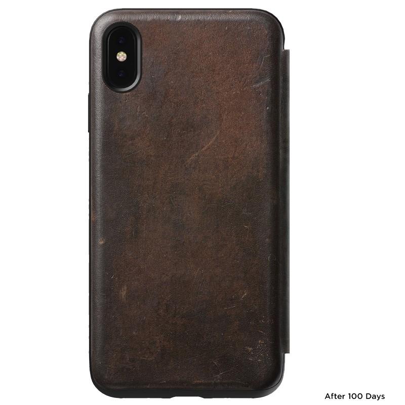 Nomad Leather Folio iPhone XS Max Bruin 02