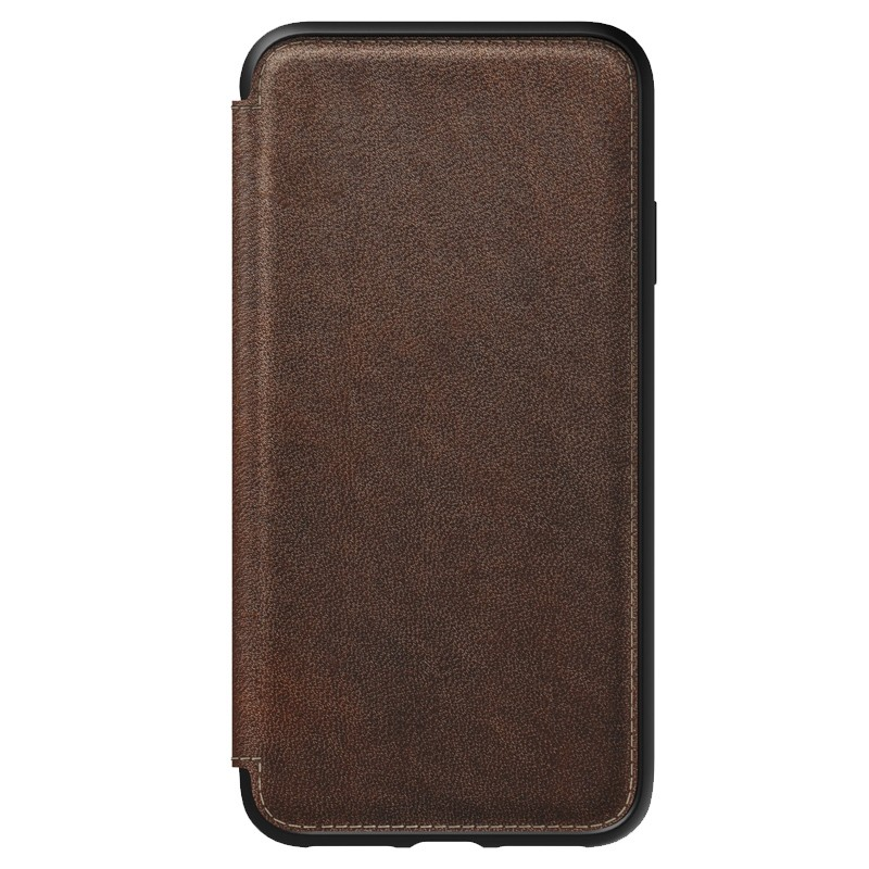 Nomad Leather Folio iPhone XS Max Bruin 04