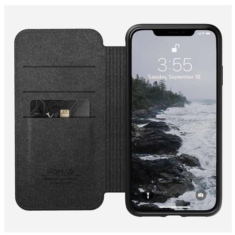 Nomad Leather Folio iPhone XS Max Bruin 01