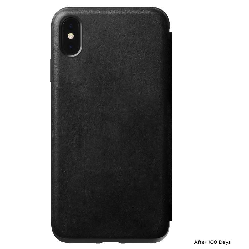 Nomad Leather Folio iPhone XS Max Zwart  02