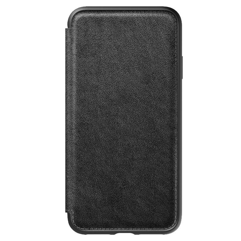 Nomad Leather Folio iPhone XS Max Zwart 05