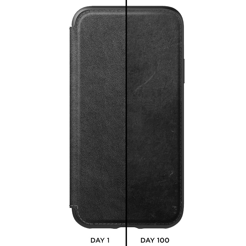 Nomad Leather Folio iPhone XS Max Zwart 03