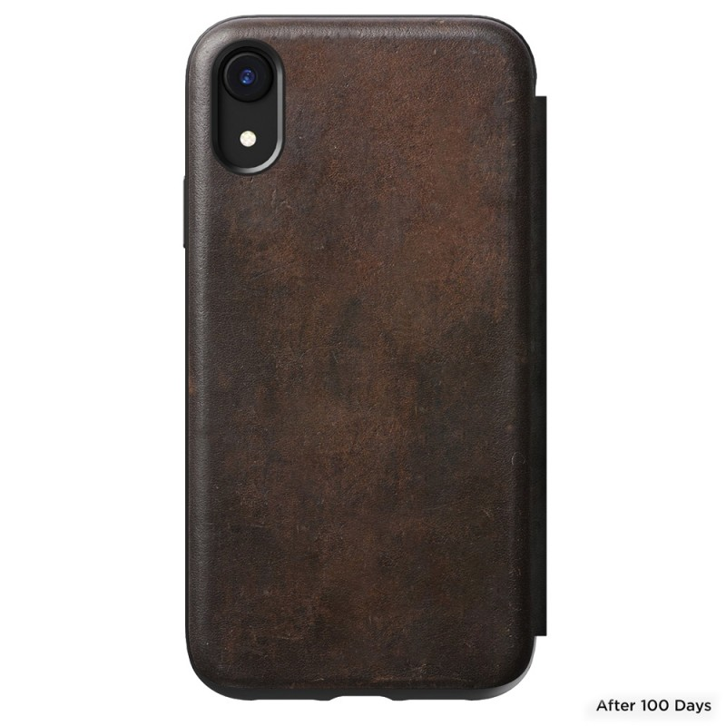 Nomad Tri-Folio Lederen Wallet iPhone XR Bruin 08