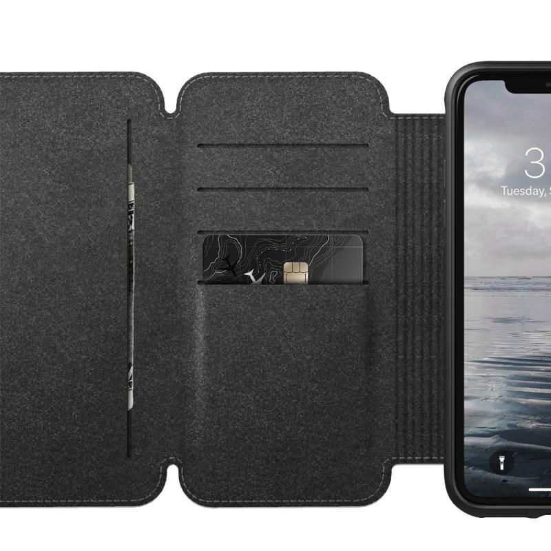 Nomad Tri-Folio Lederen Wallet iPhone XR Bruin 02