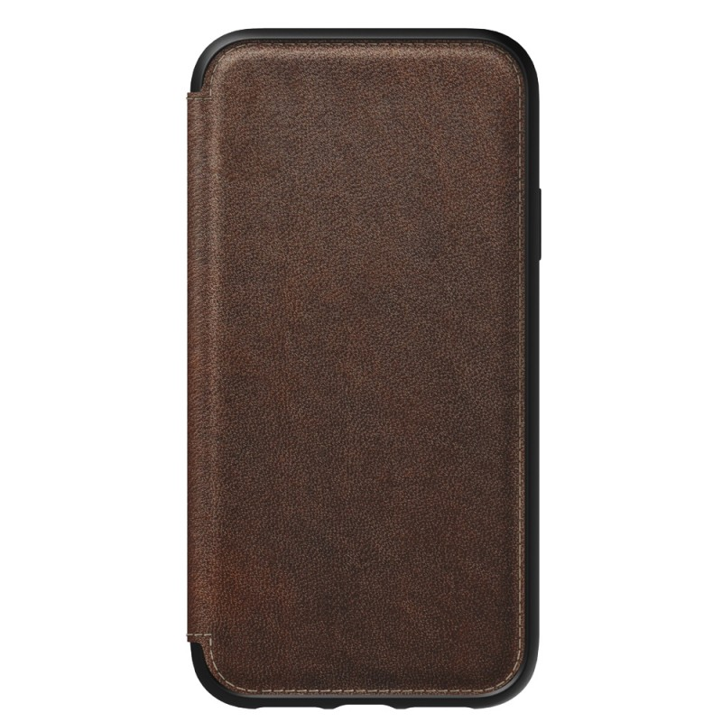 Nomad Tri-Folio Lederen Wallet iPhone XR Bruin 05