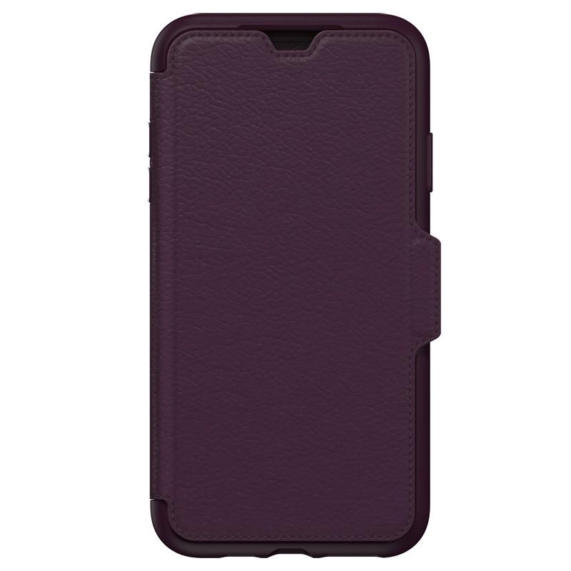 Otterbox Strada Lederen iPhone XR Folio Hoes Royale Purple Paars 04