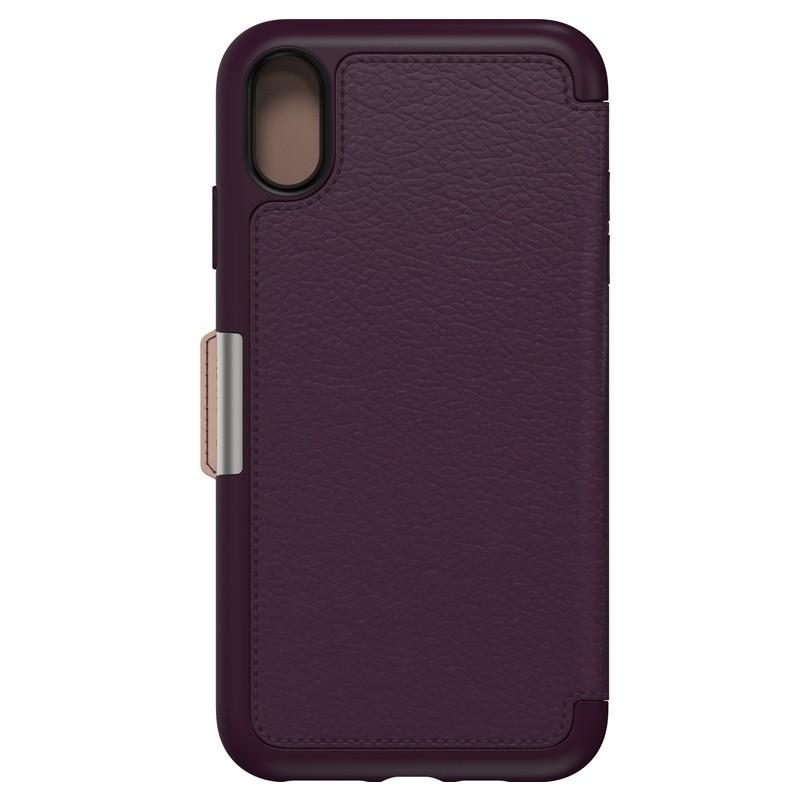 Otterbox Strada Lederen iPhone XR Folio Hoes Royale Purple Paars 02