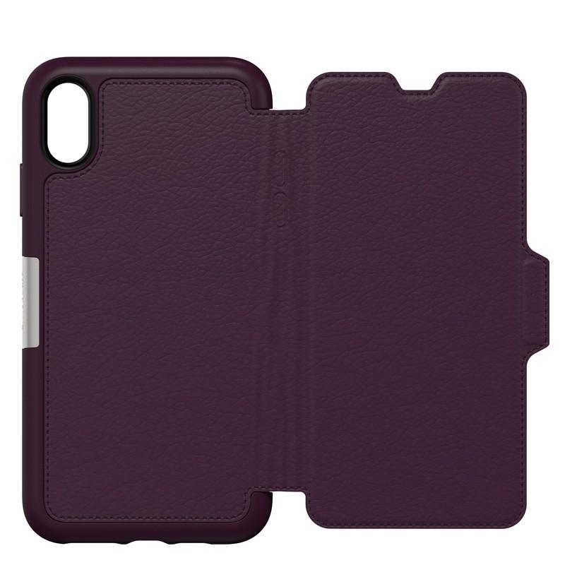 Otterbox Strada Lederen iPhone XR Folio Hoes Royale Purple Paars 05