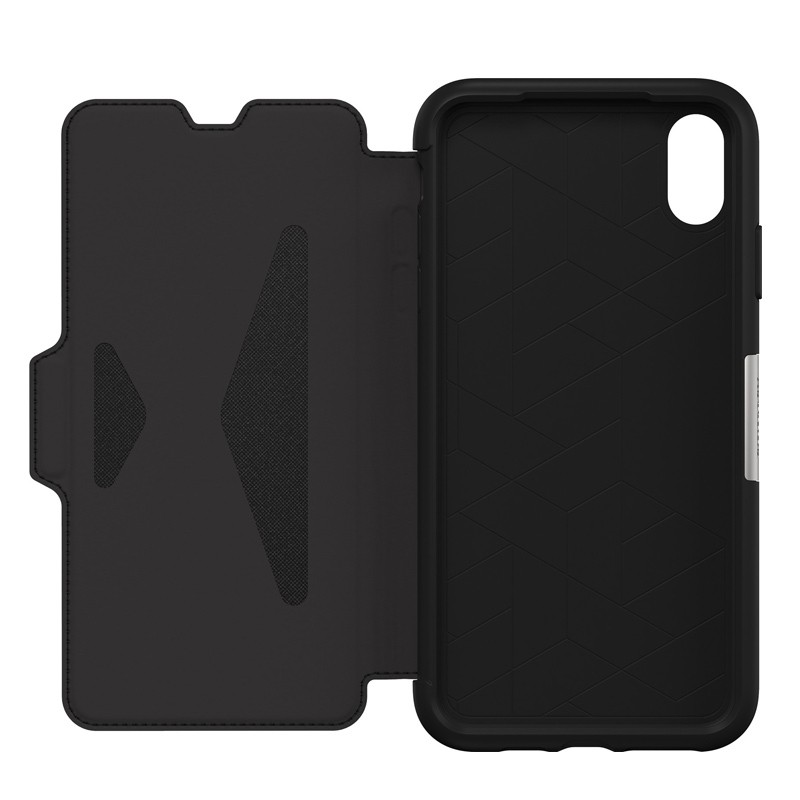 Otterbox Strada Folio iPhone XS Max Hoesje Shadow Black Zwart 03