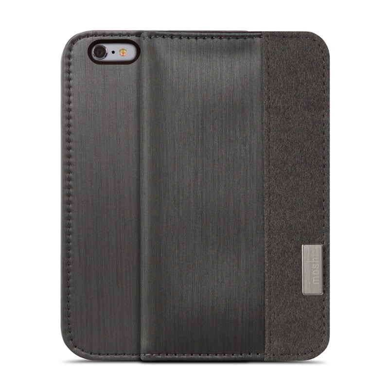 Moshi Overture Wallet Case iPhone 6 Plus Steel Black - 1