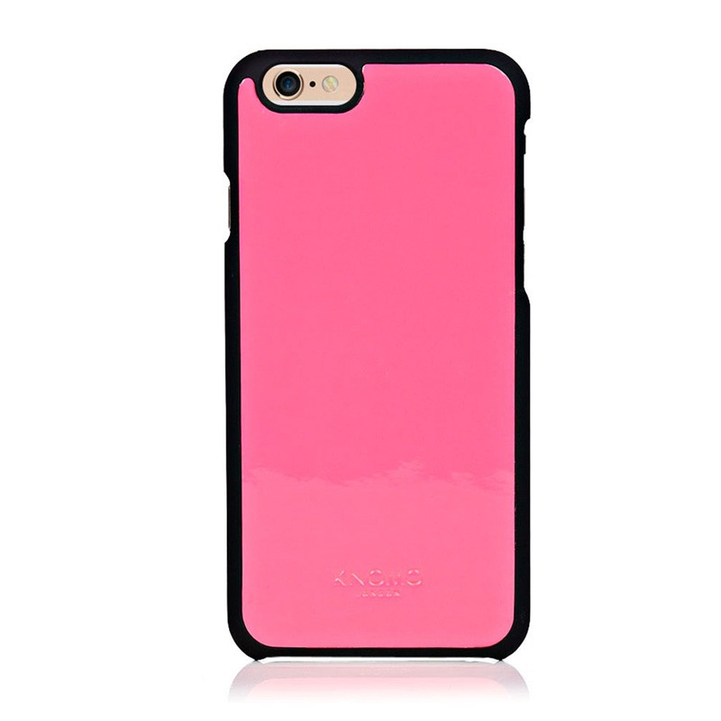 Knomo Leather Snap On iPhone 6 Pink - 1