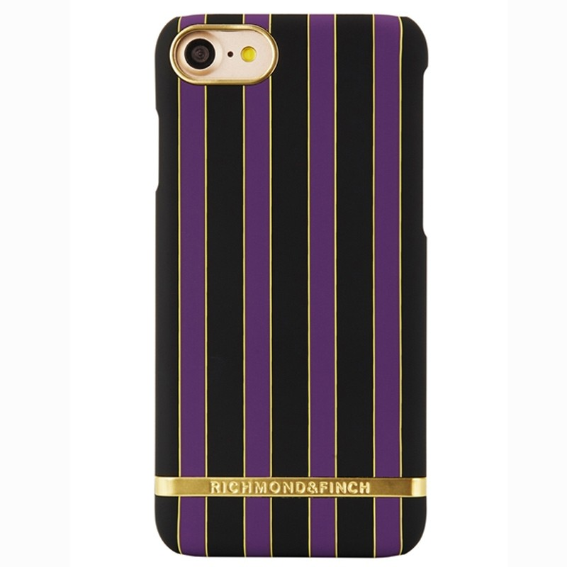 Richmond & Finch - Stripes Hoesje iPhone 7 Acai Stripes 01