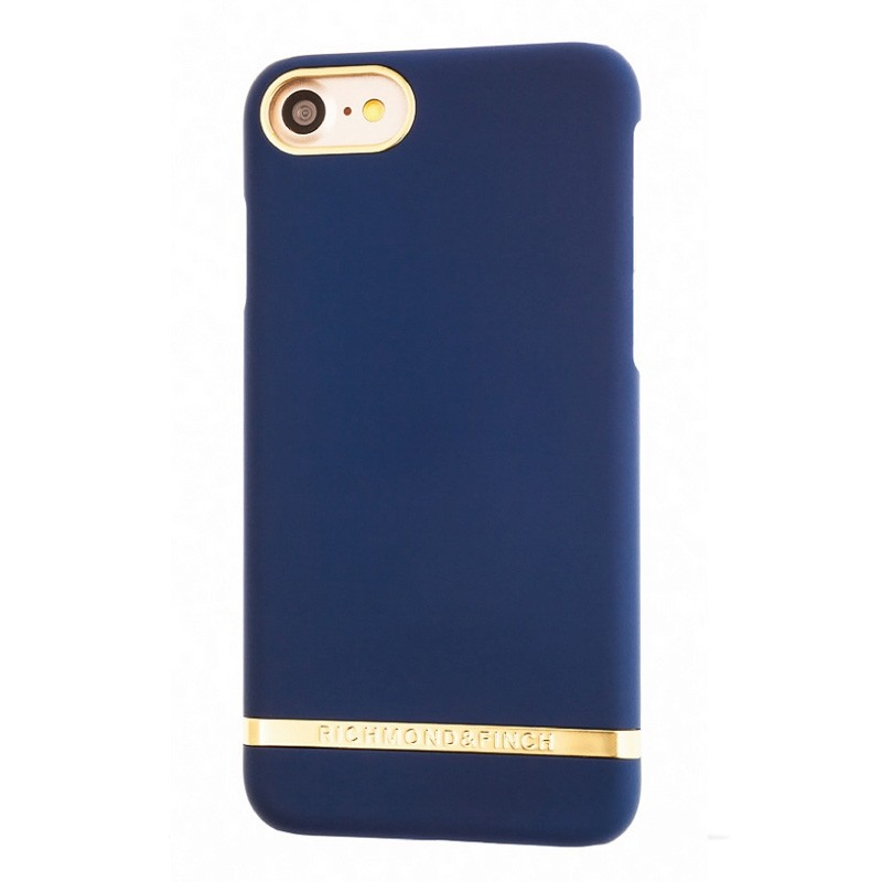 Richmond & Finch Classic Satin Case iPhone 7 Navy Blue - 1