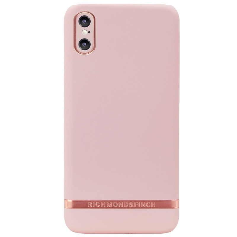 Richmond & Finch Tropical Leaves iPhone X/Xs Hoesje Pink Rose - 1