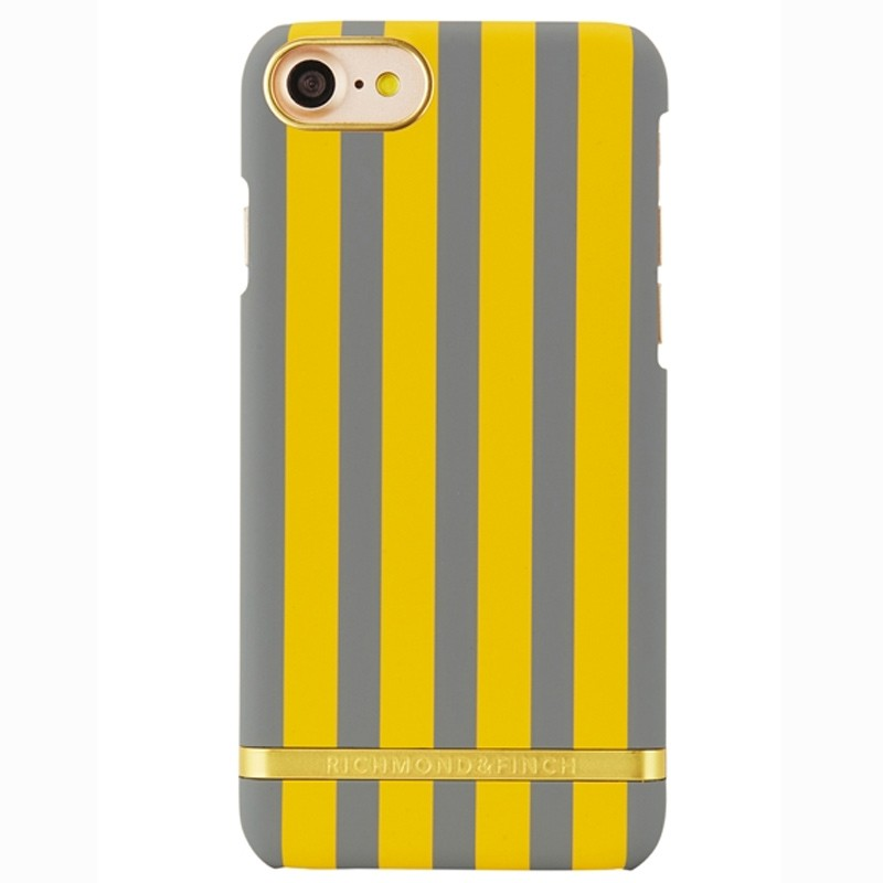 Richmond & Finch - Stripes Hoesje iPhone 7 Mustard Stripes 01