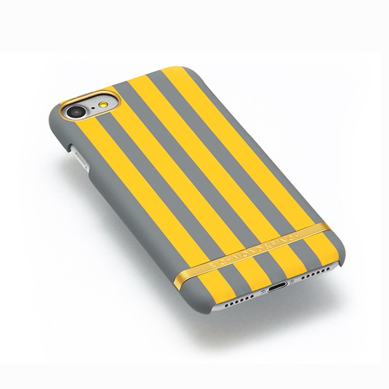 Richmond & Finch - Stripes Hoesje iPhone 7 Mustard Stripes 03