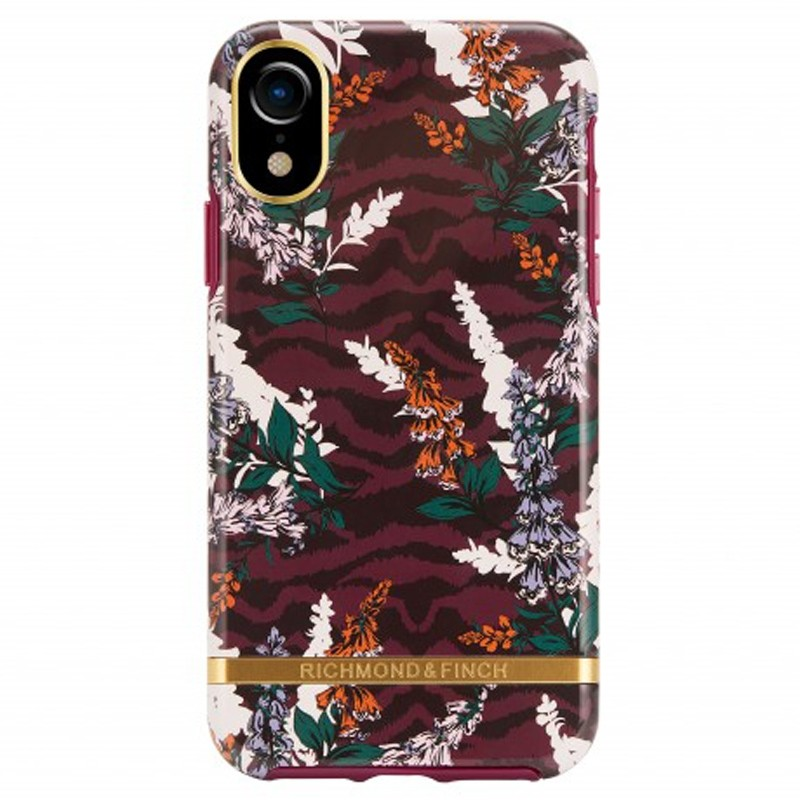Richmond and Finch Trendy iPhone XR Hoesje Floral Zebra 01