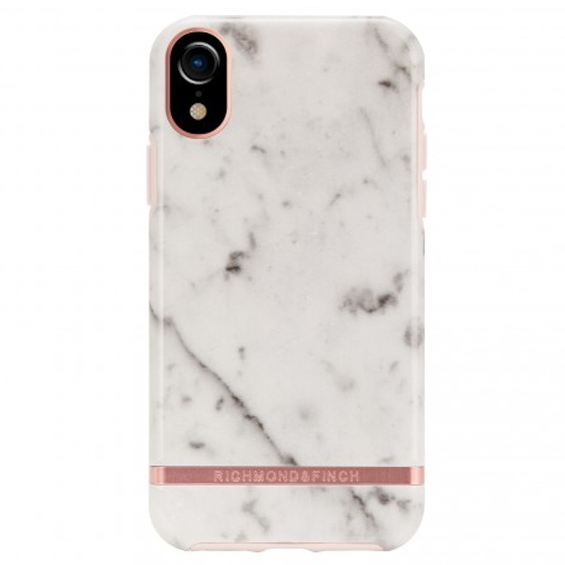 Richmond and Finch Trendy iPhone XR Hoesje White Marble 01