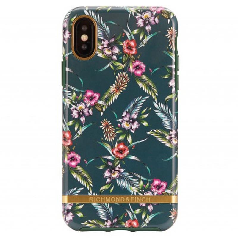 Richmond & Finch Trendy iPhone XS Max Hoesje Emerald Blossom 01