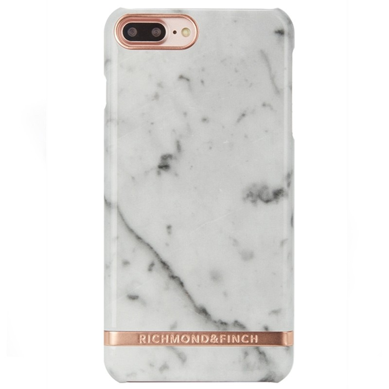 Richmond & Finch - Marble Glossy iPhone 7 Plus White Rose 01