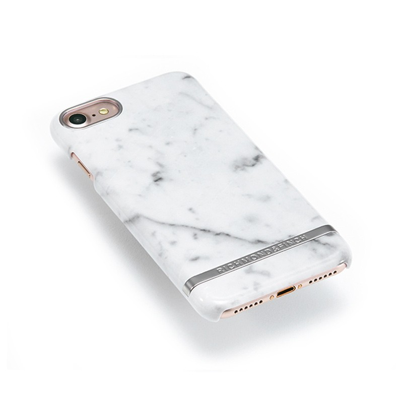Richmond & Finch - Marble Glossy iPhone 7 White Silver 03