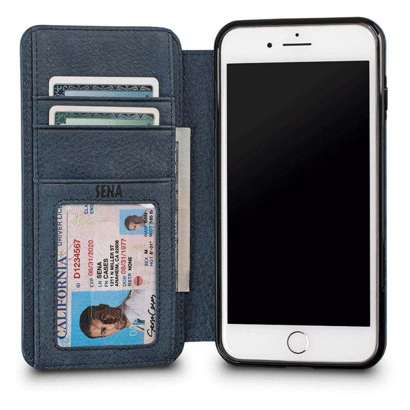 Sena Bence Wallet Book iPhone 8 Plus/7 Plus Blauw - 2