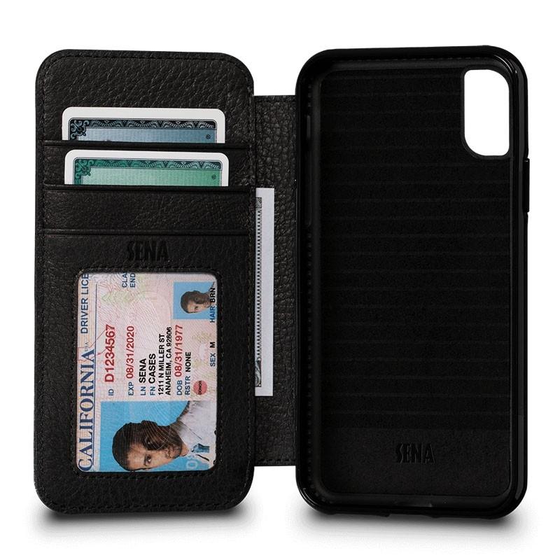 Sena Bence Lugano Wallet iPhone X Black - 1