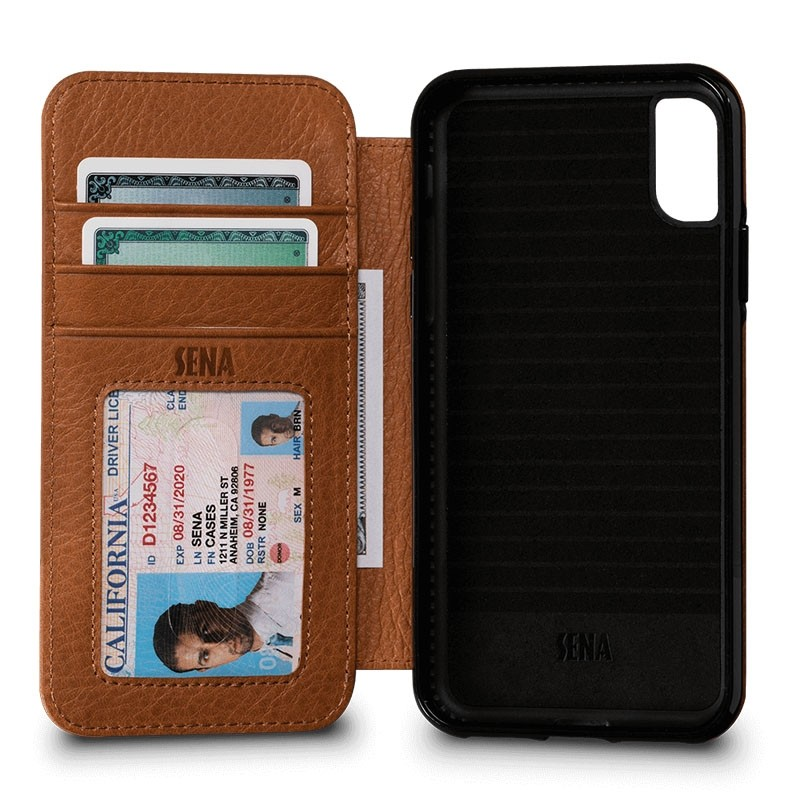 Sena Bence Lugano Wallet iPhone X/Xs Tan Brown - 1