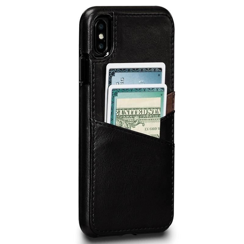 Sena Deen Lugano Wallet iPhone XS Max Hoesje Zwart 02