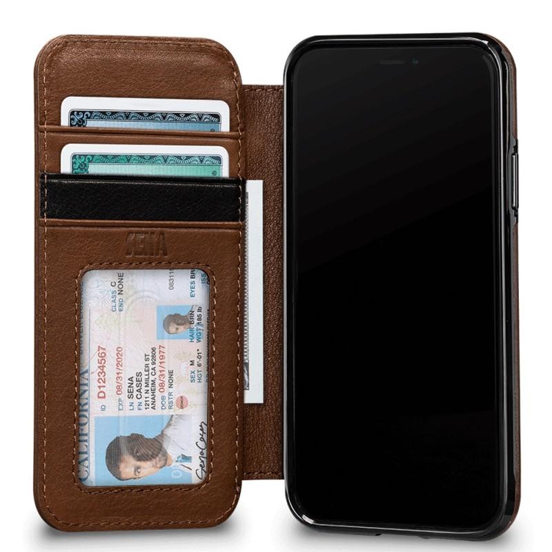 Sena Deen Wallet Book iPhone X/XS Bruin 03
