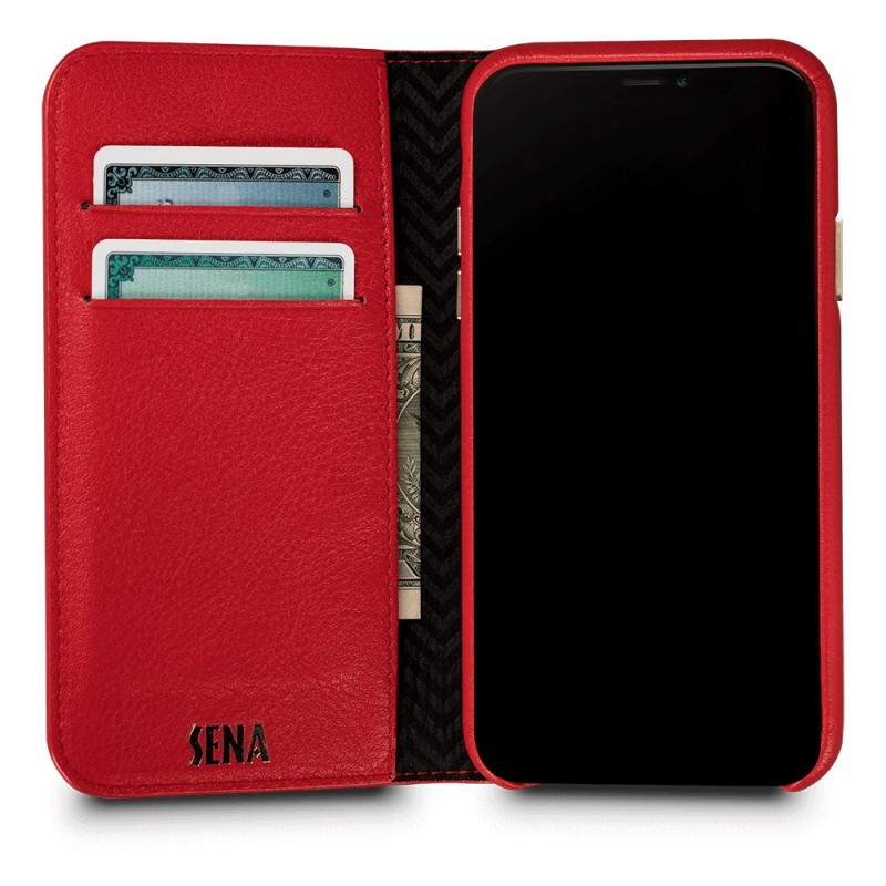 Sena Isa Quilted Wallet Book iPhone X/Xs Rood - 2