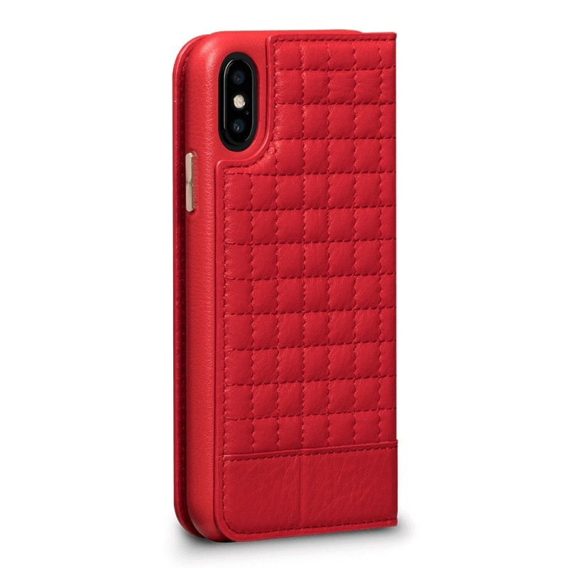 Sena Isa Quilted Wallet Book iPhone X/Xs Rood - 4