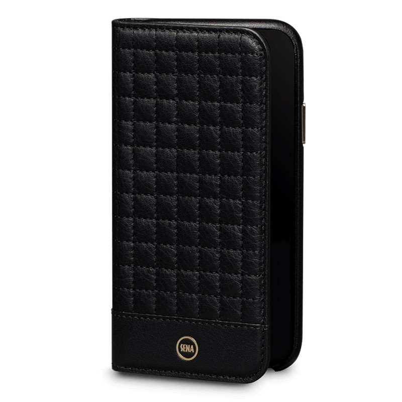 Sena Isa Quilted Wallet Book iPhone X/Xs Zwart - 1