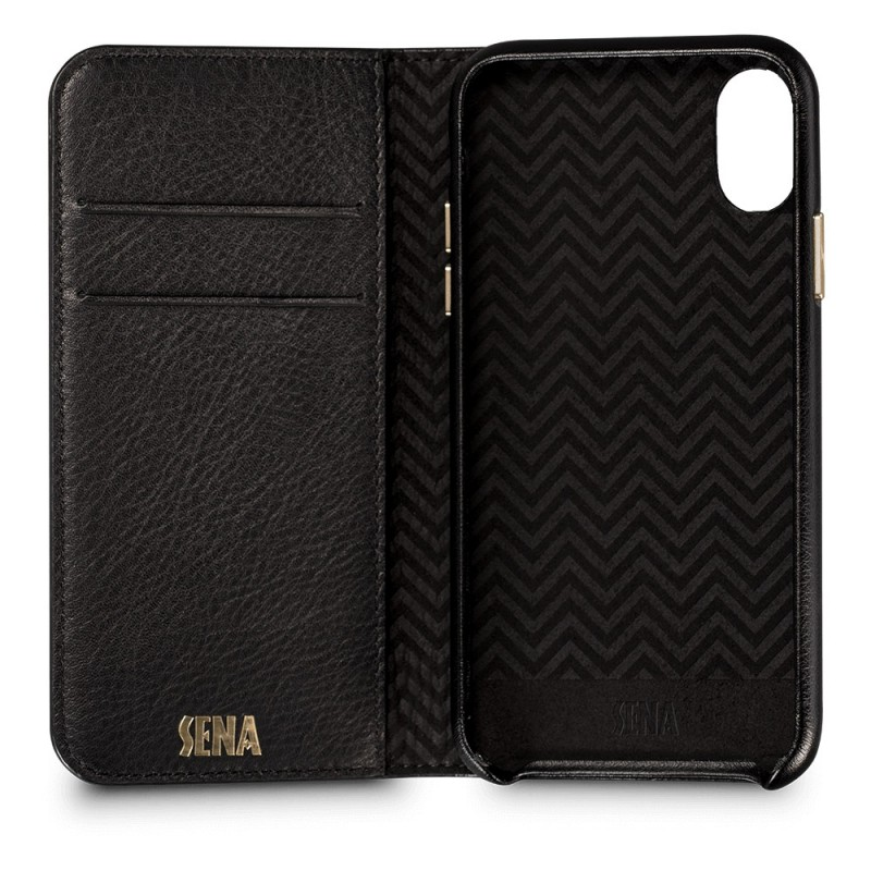 Sena Isa Quilted Wallet Book iPhone X/Xs Zwart - 2