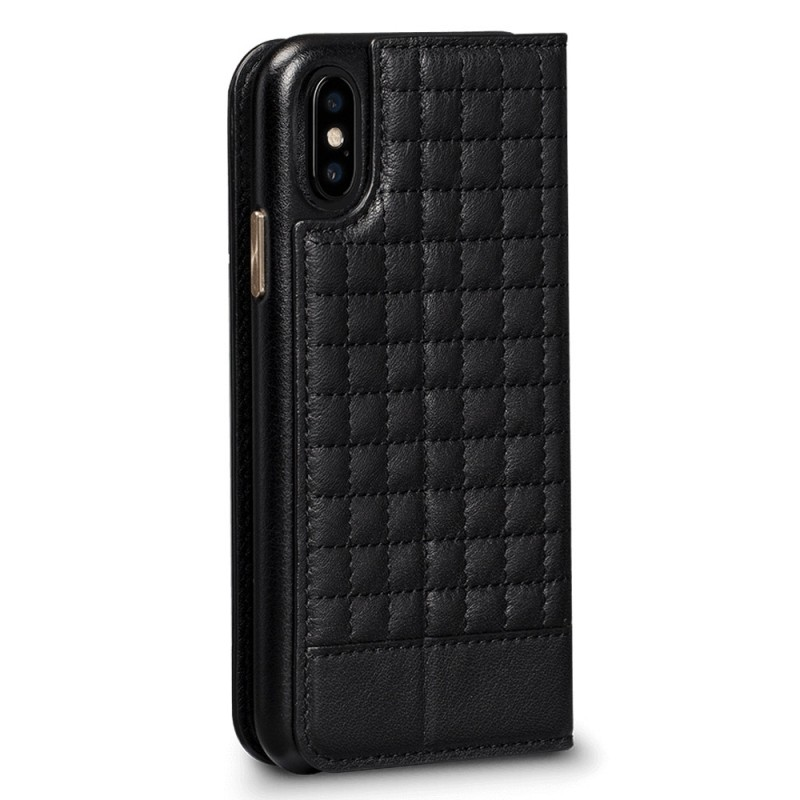 Sena Isa Quilted Wallet Book iPhone X/Xs Zwart - 4