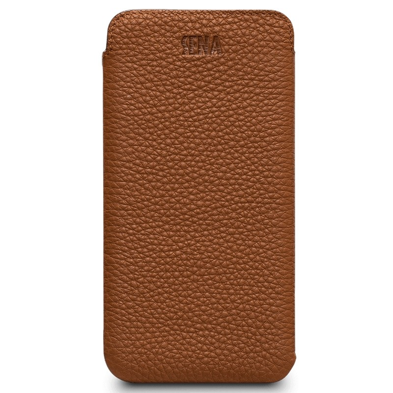 Sena UltraSlim iPhone XS Max Hoesje Bruin 01