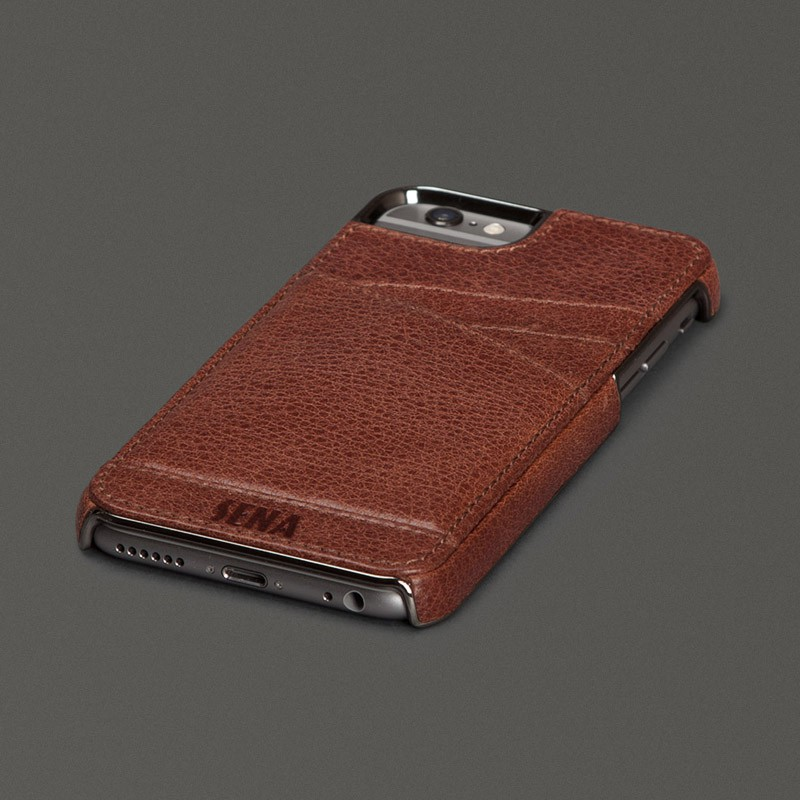 Sena Lugano Wallet iPhone 6 Brown - 1