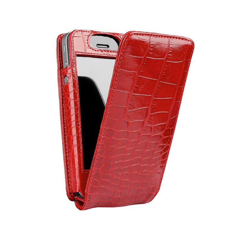 Sena Magnetflipper iPhone 5 Croco Red - 1
