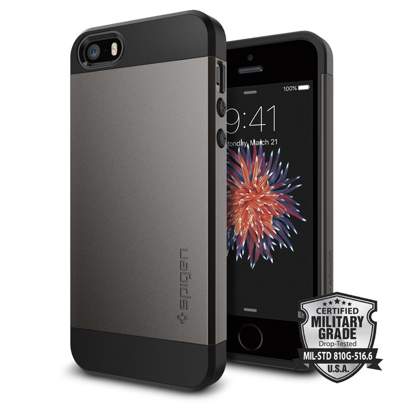 Spigen Slim Armor Case iPhone SE / 5S / 5 Gunmetal - 5